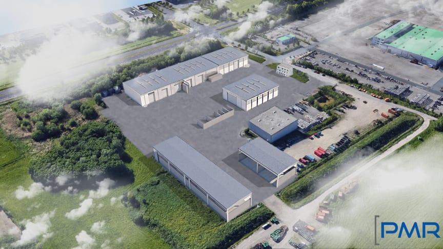 Visualisierung des Standortes Up de Schnur 2 in Rostock nach Wiederaufbau. Grafik: PMR Projektmanagement Rostock