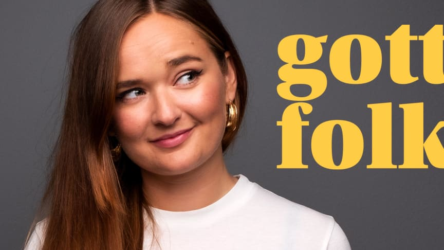 "Hanna ""HanaPee"" Persson programleder podden ""Gott Folk""."