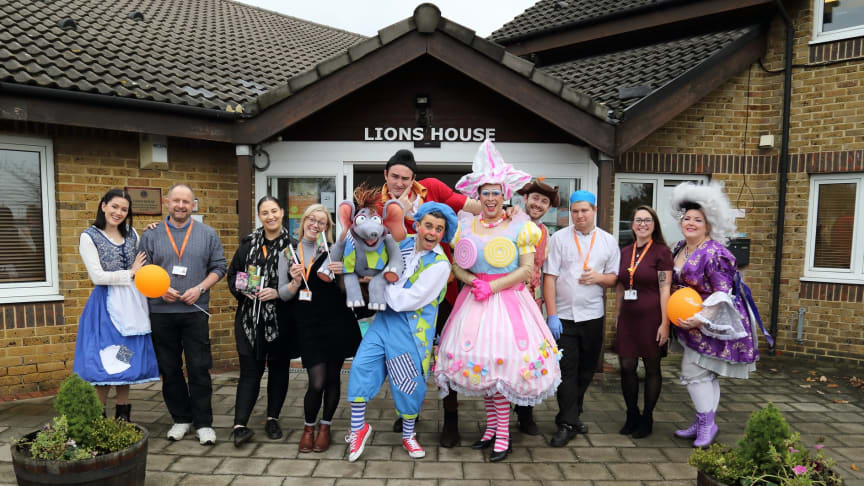 Gravesend Panto in front of our hospice