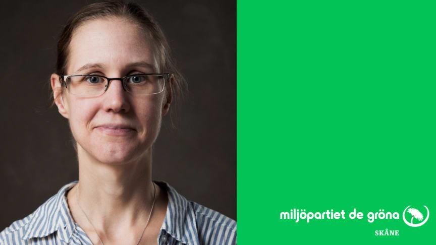 Anette Mårtensson, distriktsordförande för Miljöpartiet Skåne
