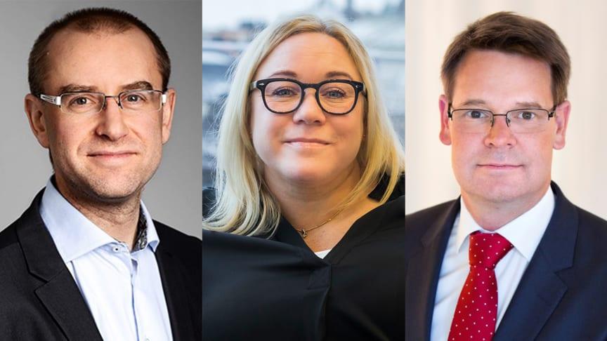 Jarl Cornell från Assemblin, Cecilia Granath från Tyréns Sverige och Andrew Kristensen från Weber Saint-Gobain Sweden är de tre nya ledamöterna i Svensk Byggtjänsts styrelse.