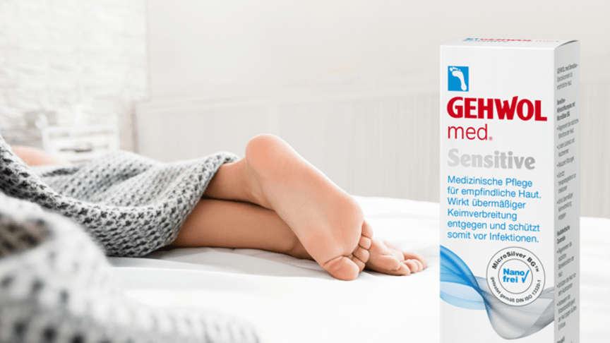 GEHWOL med Sensitive speziell für empfindliche Haut. Bild: golubovy | fotolia