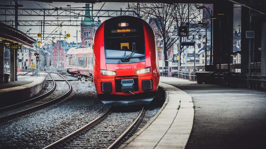 MTR Express arrangerar trygghetståg i samband med studieresa till Göteborg. Fotograf: Jana Eriksson