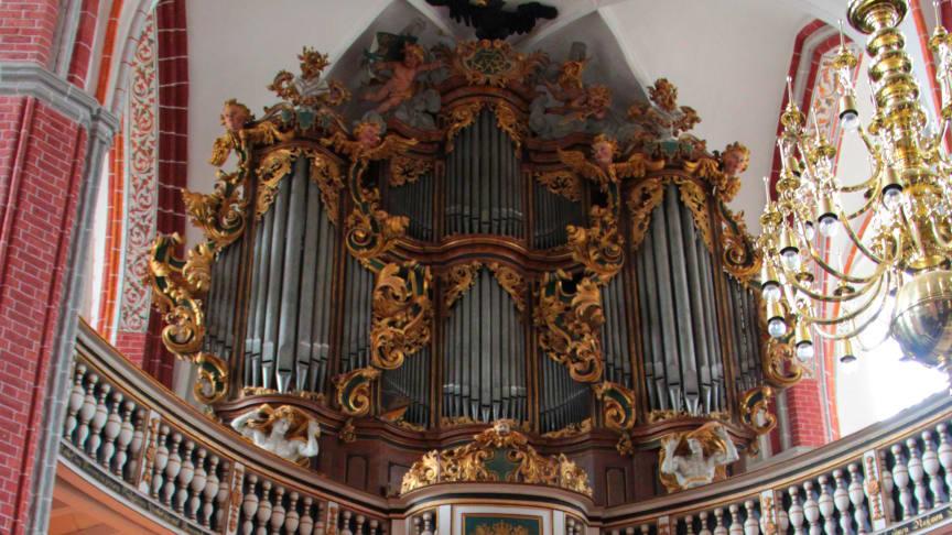 Die größte Orgel des Landes Brandenburg steht in Sankt Katharinen in Brandenburg (Havel). Foto: Christian Griebel.