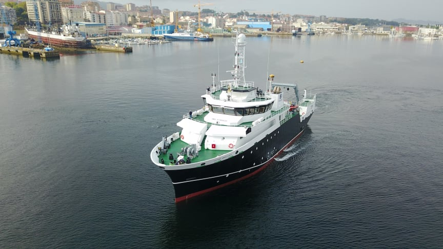 Argentina's new oceanographic and fishing research vessel 52m Victor Angelescu