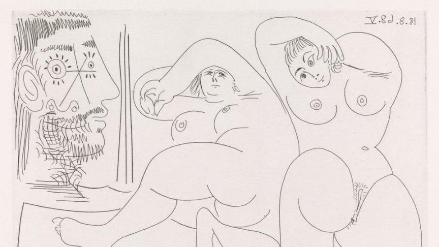Pablo Picasso, 18. august 1968. © Succession Pablo Picasso / BONO 2019