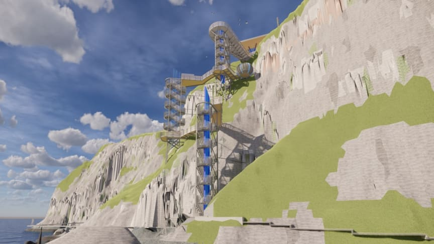 An artist's impression of the proposed new extension at The Gobbins