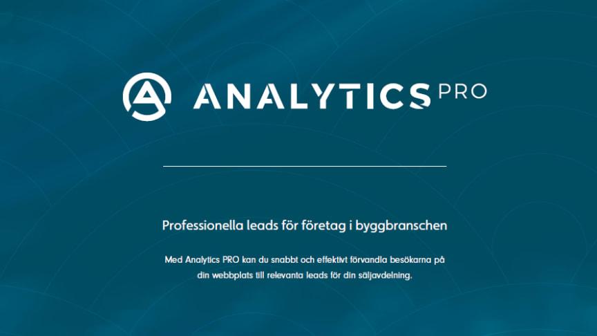 Läs mer och se filmen om Analytics PRO - tjänsten som både ger dig koll på de företag som besöker din hemsida - och vilka projekt de planerar.