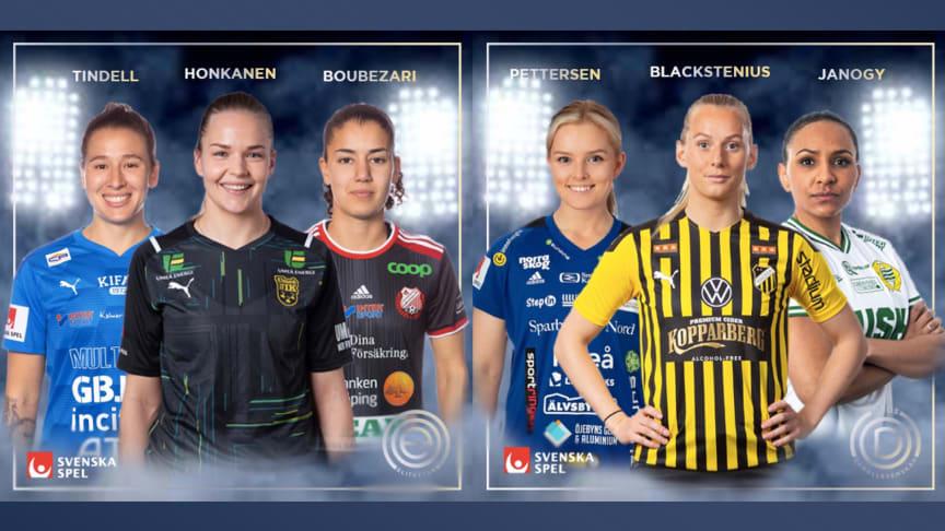 De kan bli Månadens Spelare i Elitettan och OBOS Damallsvenskan