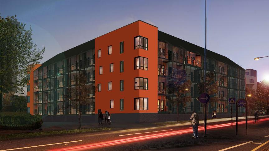 Pressinbjudan: Första spadtaget för 48 centrala ABK-lägenheter i Kristianstad