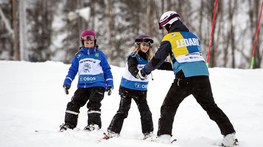 Svenska Skidförbundets satsning Alla på snö vill aktivera fler barn på snö. Foto: Ulf Palm.