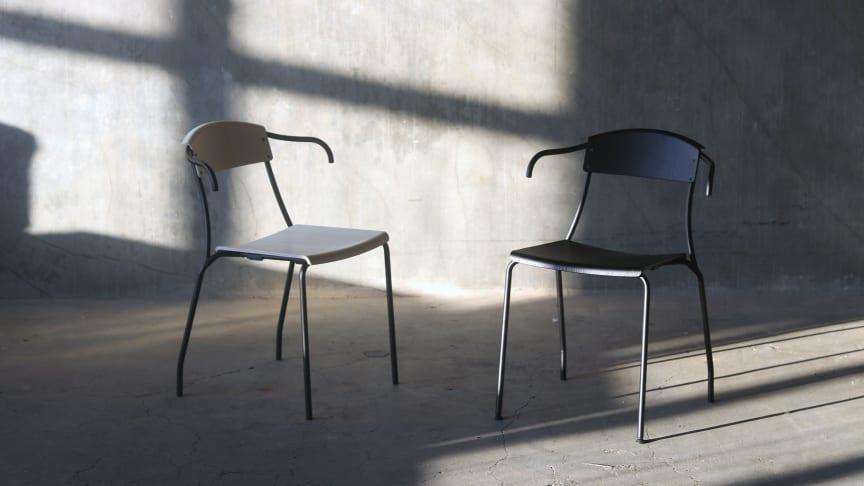 """Stolen """"Straw"""", designad av Charlie Styrbjörn. Stilren skandinavisk design med flera unika och spännande detaljer som gör att den särskiljer sig från andra stolar"""