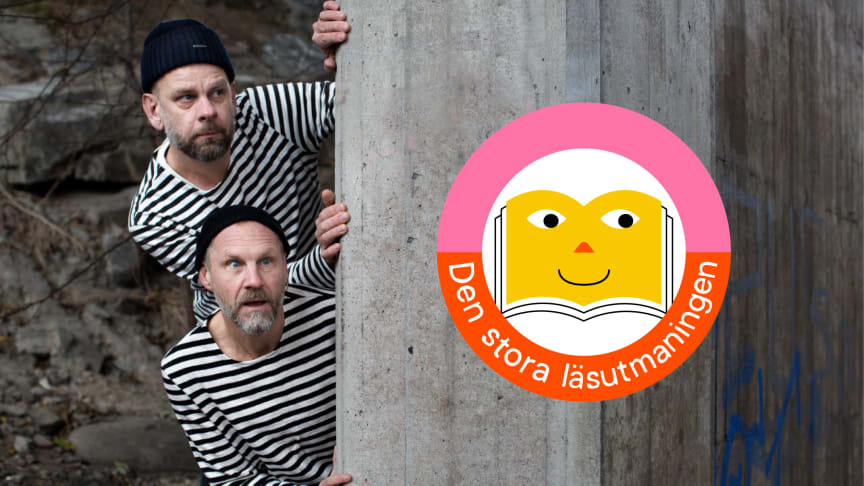 Anders Sparring och Per Gustavsson, duon bakom julkalenderaktuella Familjen Knyckertz, medverkar i Den stora läsutmaningen 2021.