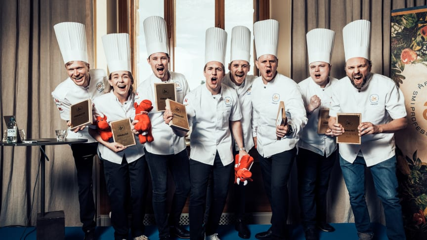 Finalisterna i Årets Kock 2021. Foto Samuel Unéus
