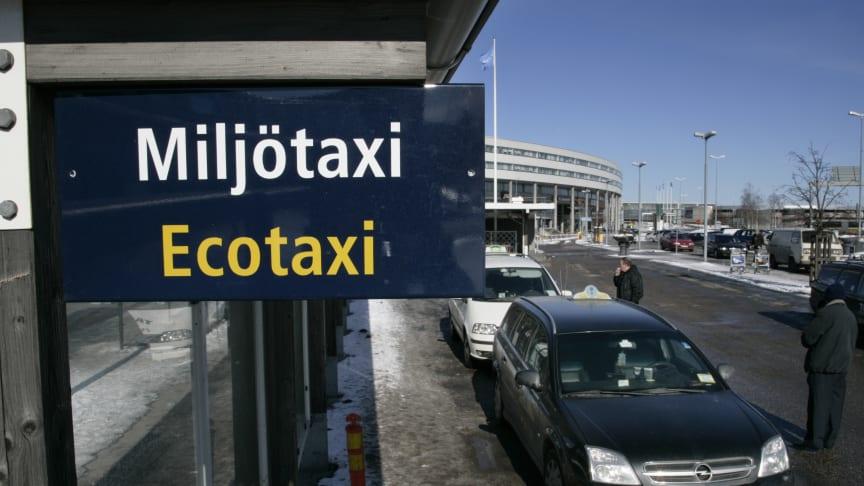Swedavia stödjer miljöeffektiva bränslen för taxi på Stockholm Arlanda Airport