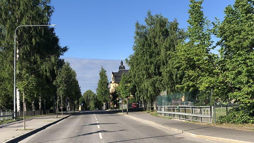 I sommar byggs vägsträckan mellan Nygatan och gångtunneln mellan skolorna om.   Foto: Hanna Wimander