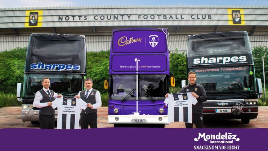 Cadbury, the nation's favourite chocolate, has today announced a unique sponsorship agreement with the oldest professional football club in the world, Notts County Football Club