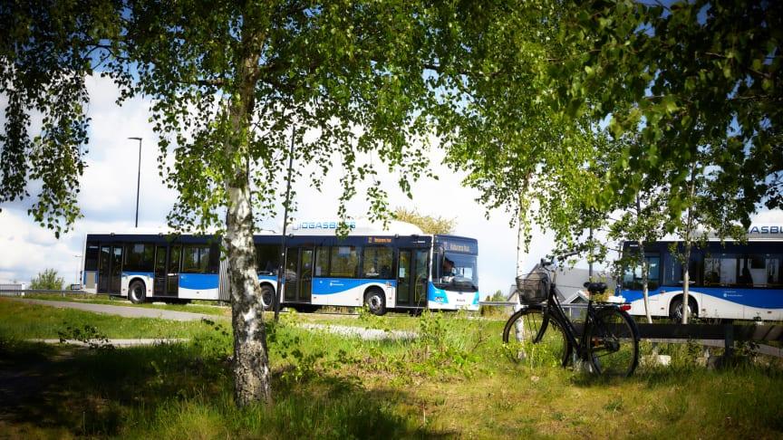 Svealandstrafikens bussar ute i trafiken