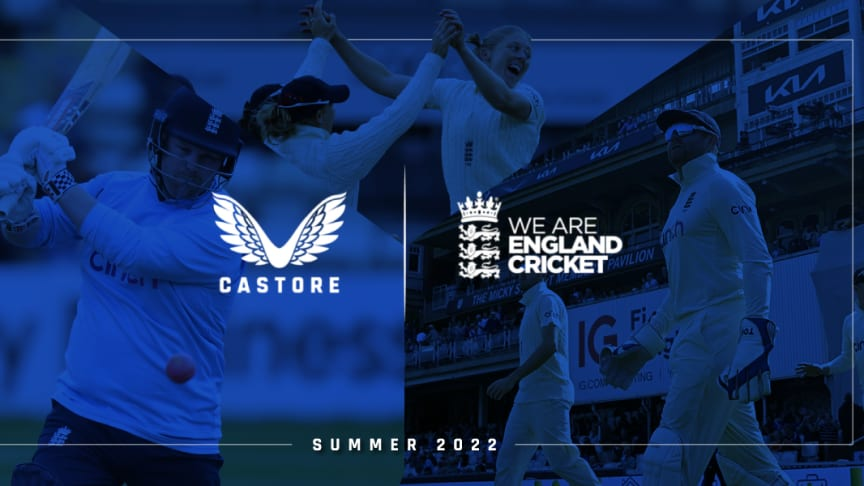 Castore confirmed as Official Kit Supplier to England Cricket
