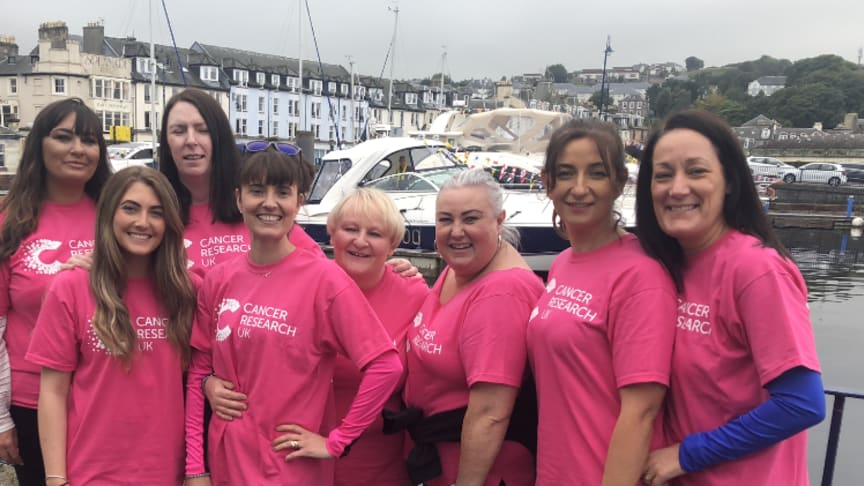 ng homes Shining Bute-ys (L to R) Lyanne Leslie, Joy Henderson, Karen Johnson, Laura Sharkey, Yvonne Kinnear, Linda Forrester, Catherine Mather & Sharon Hazlett