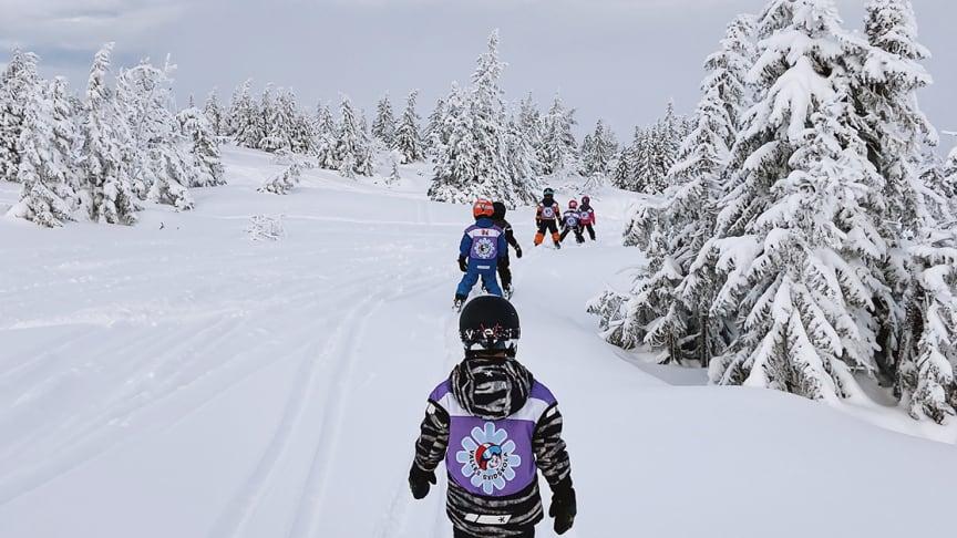 Bild från gårdagen i Sälen tagen av skidlärare Lisa Larsson. Fri för publicering.