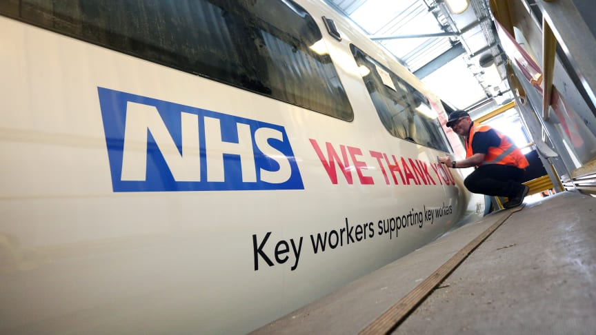 New livery shows appreciation of NHS staff and key workers