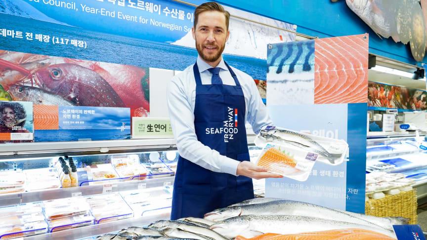 Gunvar L. Wie tror på varig onlineeffekt i Sør-Korea. FOTO: Norges sjømatråd