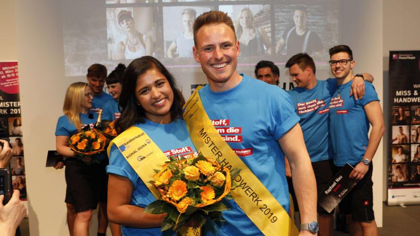 Priyanka Balamohan und Robert Dittrich sind Miss und Mister Handwerk 2019. Foto: Werbefotografie Weiss