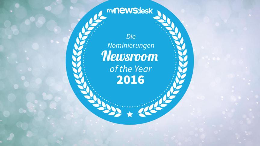 """Mynewsdesk zeichnet den """"Newsroom of the Year 2016"""" aus"""