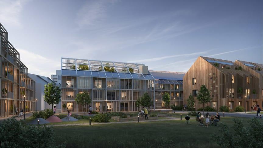 Kvarteret Nova - det vinnande förslaget för ett nytt kvarter i Kungsängen.