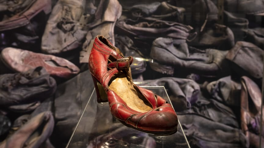 A woman's dress shoe belonging to an unknown deportee to Auschwitz (1940s) - Collection of the Auschwitz-Birkenau State Museum.