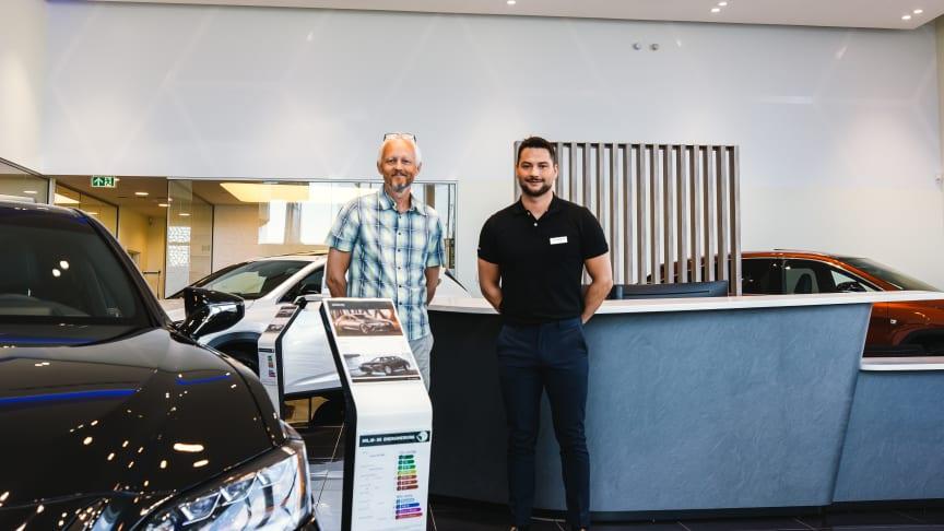 Brand Manager/ Salgssjef Morten Teksnes og eiendomssjef Paal Skaalsvik