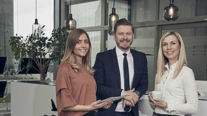 Petra Gunnarsson, Daniel Samuelsson och Anette Årcén