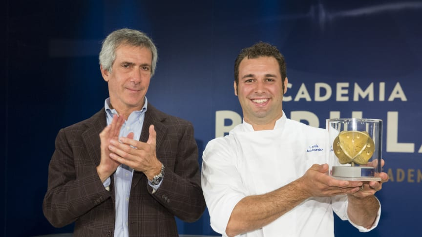 Vinnaren Accursio Lotà tillsammans med Paolo barilla
