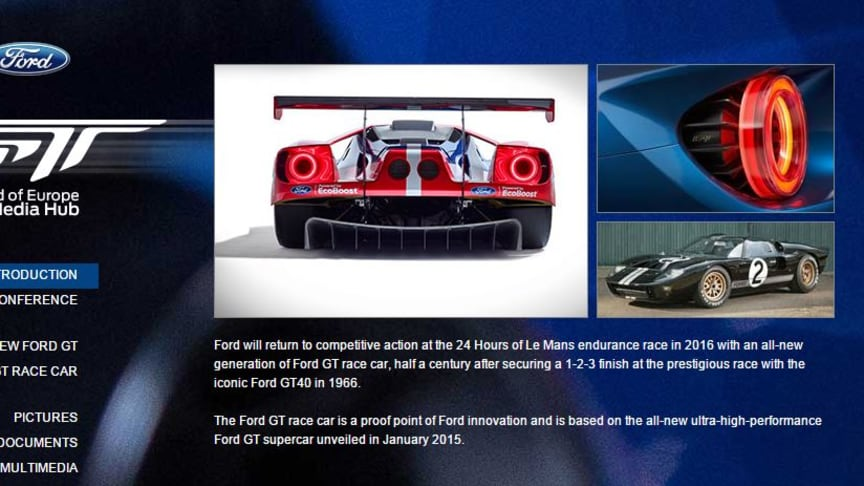 Ford GT vender tilbage til Le Mans