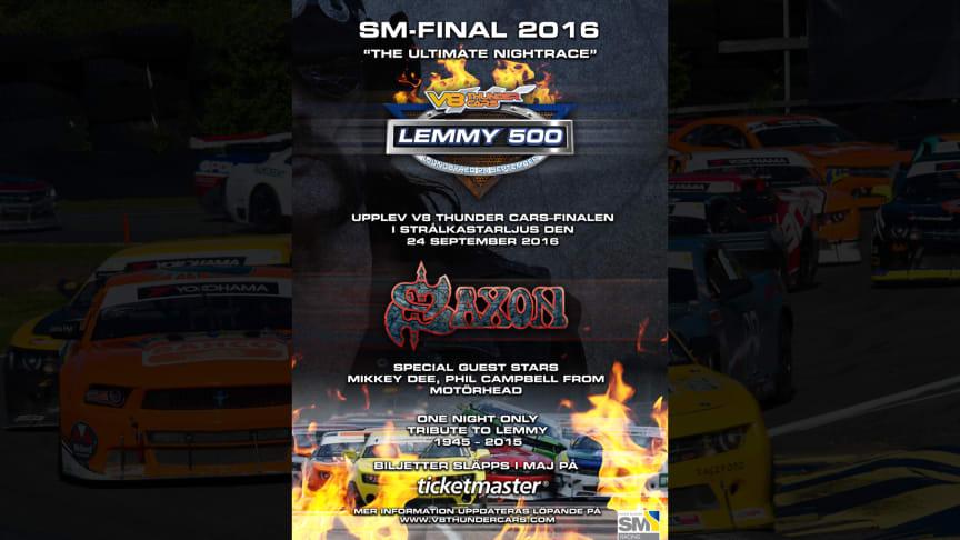 Saxon headlining Lemmy 500 in Sweden
