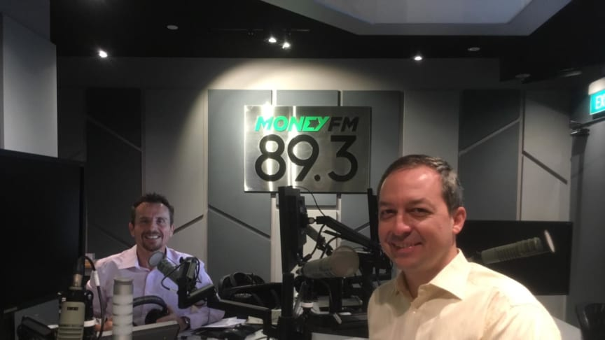 Mark Laudi in the Money FM 89.3 studio with Jason Dasey