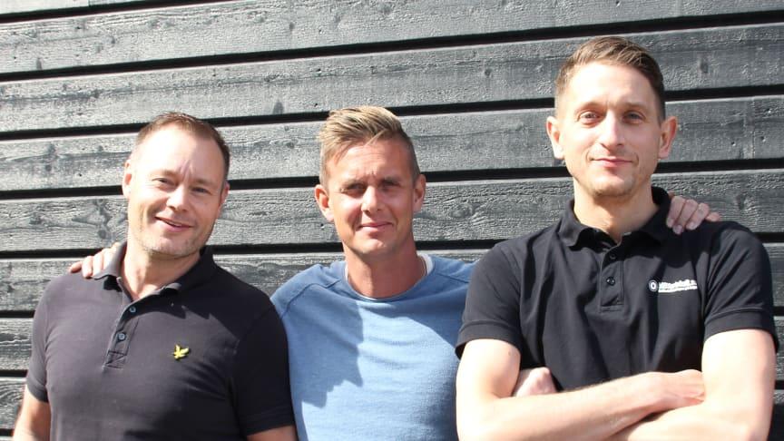 Christian Persson, Magnus Nordström och Aleksandar Milosevic.