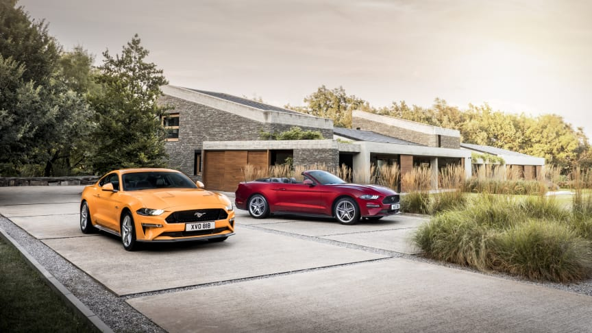 IKONET FORNYES: Nye Ford Mustang er klar for levering til europeiske kunder i 2018.