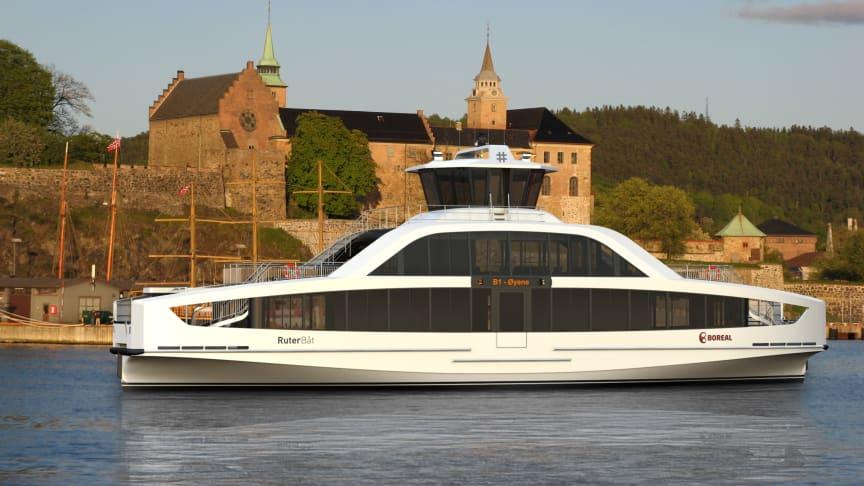 Slik vil øybåtene se ut fra 1. november 2021. Illustrasjon Multi Maritim