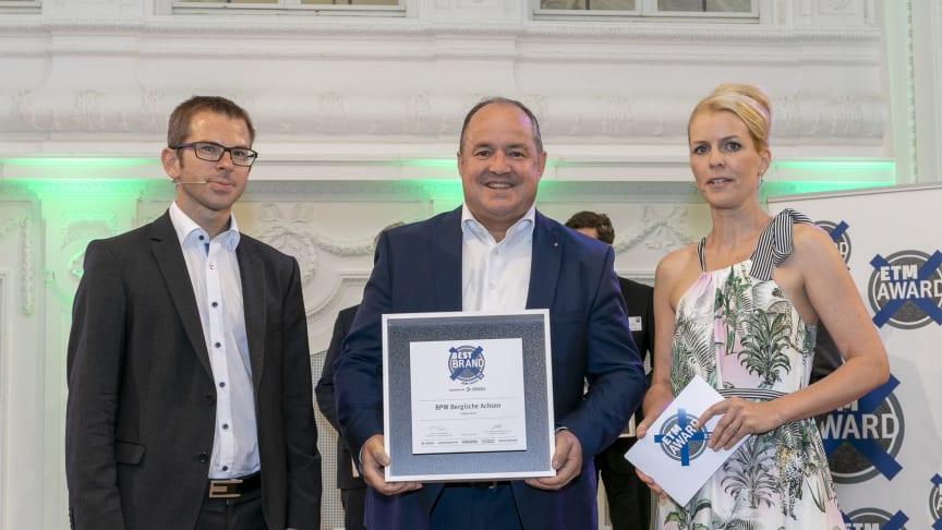 "Ralf Merkelbach, Leiter Key Account Management Großflotten Europa, bei der Preisverleihung ""Best Brand 2018"" am 21. Juni im Neuen Schloss in Stuttgart. (Foto: Karl-Heinz Augustin)"