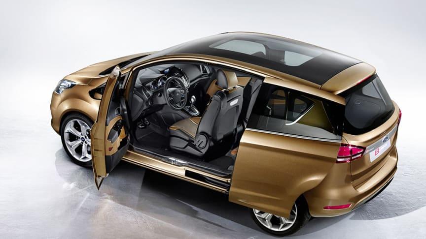 B-MAX visar Fords nya vision för småbilsmarknaden