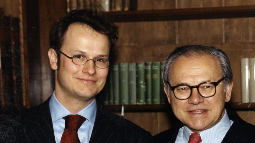 Felix Burda mit seinem Vater Verleger Dr. Hubert Burda
