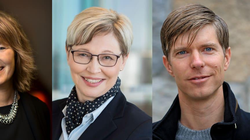 Johanna Frelin, vd, Riksbyggen, Karin Andersson, senior advisor, Karios Future och Jonas Anund Vogel, föreståndare KTH Living Lab.