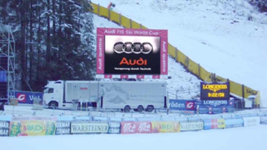 Mitsubishi Electric screens deliver peak performance at Audi Alpine FIS Ski World Cup