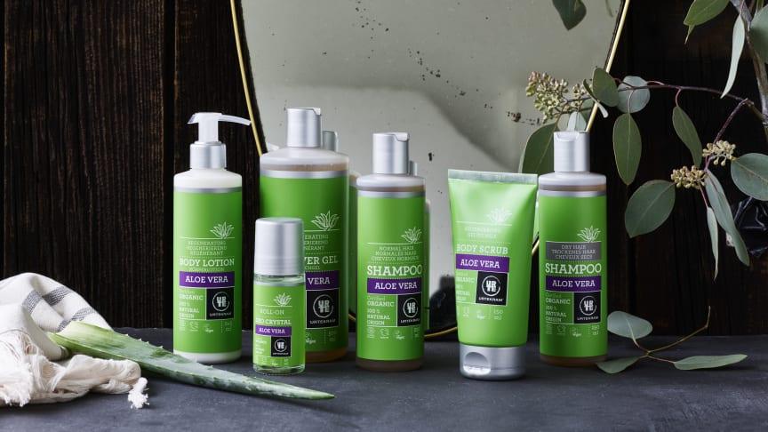 Midsona Sverige stöder Plastinitiativet och år 2022 ska alla företagets plastförpackningar gå att återvinna. Ett viktigt steg tas med Urtekrams nya förpackningar till hud- och hårvård, med plantbaserad plast.