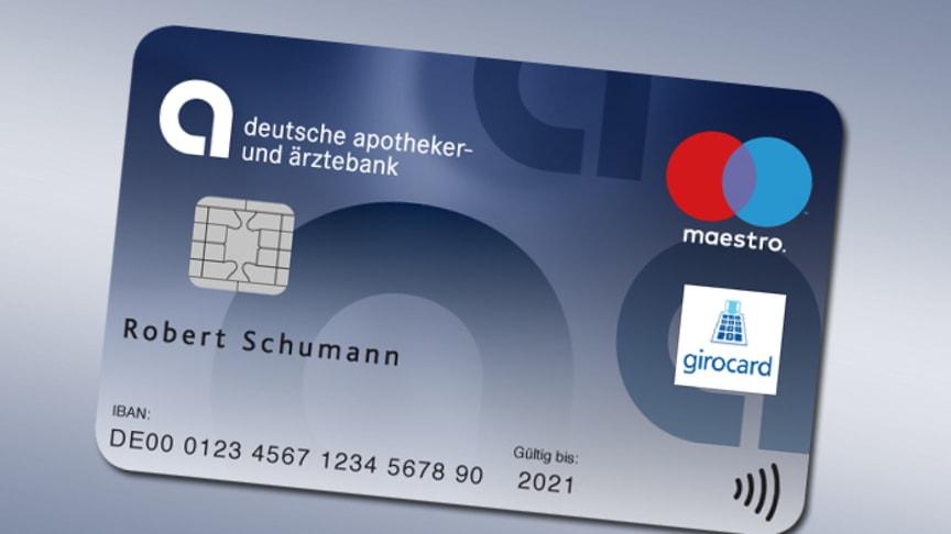 Die neue BankCard der apoBank mit neuen Funktionen.