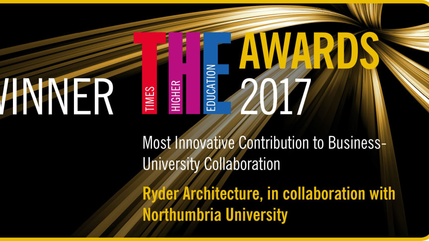 Northumbria and Ryder Architecture win award for most innovative collaboration