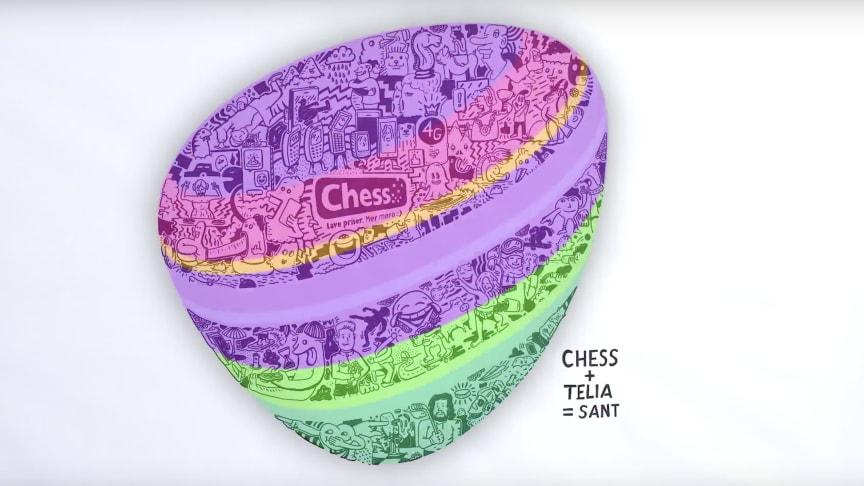 Chess+Telia = Sant: Med en forenklet merkevareportefølje i privatmarkedet vil Telia Norge bli en mer fokusert virksomhet som skal ligge i forkant og utfordre på innovasjon og kvalitet for sine kunder.
