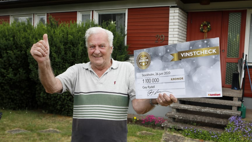 Gey Rydell vann 1,1 miljoner i Kombilotteriet. Foto: Curt-Robert Lindqvist